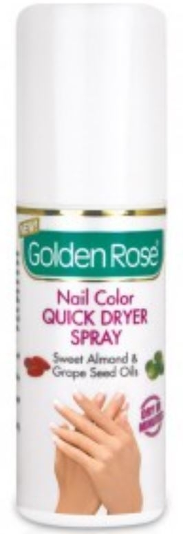 Golden Rose Nail Color Quick Dryer Spray
