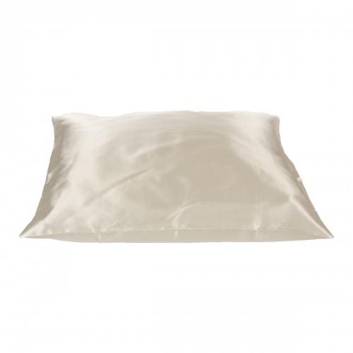 Beauty Pillow - creme satijnen kussensloop