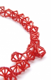 Crystal Necklace - rood