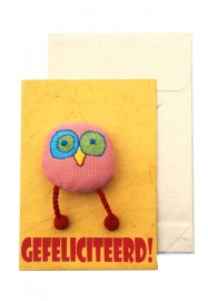 Happy postcard - GEFELICITEERD!