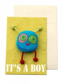 Happy postcard - IT` S A BOY