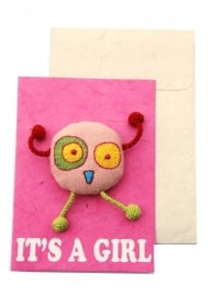Happy postcard - IT` S A GIRL