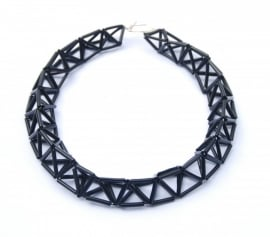 Big Twist Necklace - zwart
