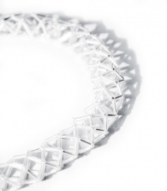 Cube Snake Necklace - transparant
