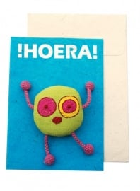 Happy postcard- HOERA