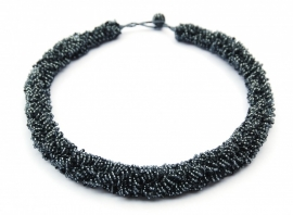Loop necklace - antraciet