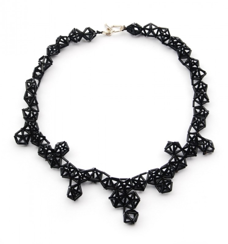 Crystal Necklace - zwart