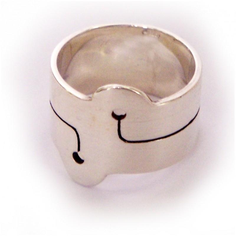 2 holes ring
