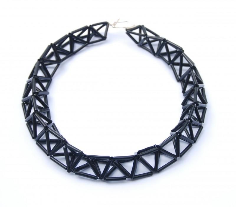 Big Twist Necklace - zwart