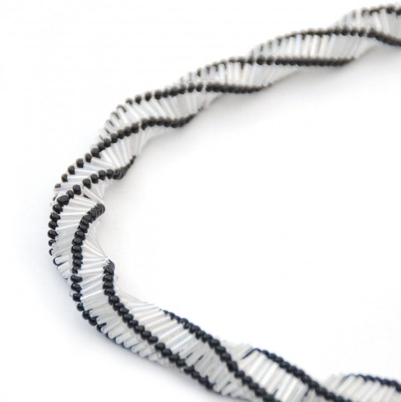Spiral Twist Necklace transparant-zwart