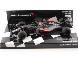 McLaren Honda MP4-31 F. Alonso Monaco GP 2016 - Minichamps 1:43