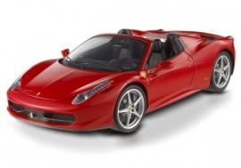 Ferrari 458 spider (rood) - Hotwheels Elite 1:18