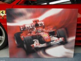 Ferrari F1 M. Schumacher print op linnen 100 x 75 cm