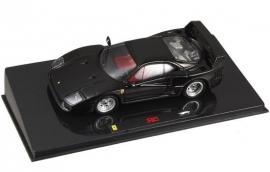 Ferrari F40 (zwart) - Hotwheels Elite 1:43