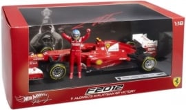 Ferrari F2012 Victory Malaysian GP 2012 F. Alonso Hotwheels 1:18