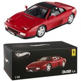 Ferrari 348 TS - rood - Hotwheels ELITE 1:18
