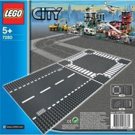 Lego 7280 Wegenplaten recht en kruising - Lego City