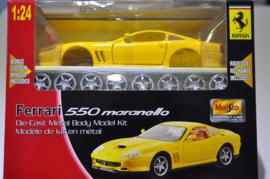 Ferrari 550 Maranello bouwdoos - Maisto 1:24