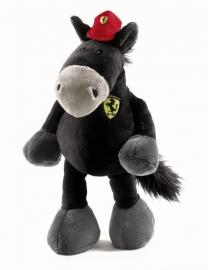 Ferrari knuffelpaard 35cm zwart - Nici