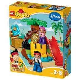 Duplo Lego 10604 - Jake en de Nooitgedachtland Piraten schateiland