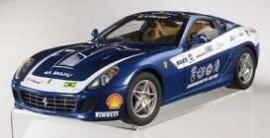 Ferrari 599 GTB Fiorano Panamerican (blauw) - Hotwheels ELITE 1:18