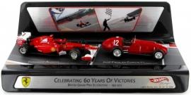 Ferrari 150 Italia 2011 and Ferrari 375 F1 1951 - Hotwheels 1:43