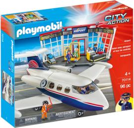 Playmobil 70114 - Luchthaven met vliegtuig