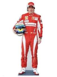 Lifesize Cardboard Fernando Alonso Ferrari