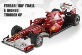 Ferrari 150 Italia F1 Turkish GP 2011 Fernando Alonso ELITE Hotwheels 1:18