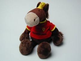 Ferrari knuffelpaard 35cm bruin - Nici