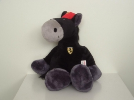 Ferrari knuffelpaard 25cm zwart - Nici