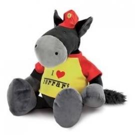 Ferrari knuffelpaard 35cm zwart/geel - Nici