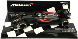 McLaren Honda MP4-31 F. Alonso Chinese GP 2016 - Minichamps 1:43