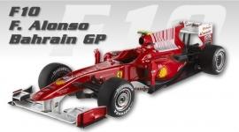 Ferrari F10 (2010) Fernando Alonso ELITE Hotwheels 1:18