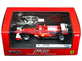 Ferrari F10 (2010) Bahrain GP Felipe Massa - Hotwheels 1:43