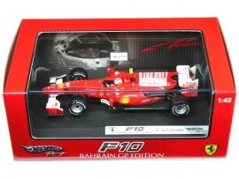 Ferrari F10 (2010) Bahrain GP Fernando Alonso - Hotwheels 1:43
