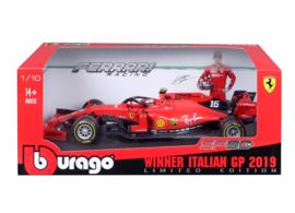 Ferrari SF90 #16 C. Leclerc Winner Italian GP 2019 Bburago 1:18