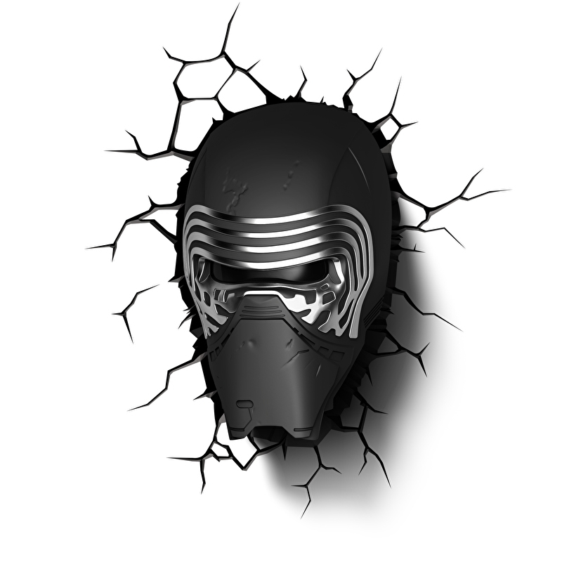 Kylo Ren 3D Deco Art Led Lamp - Star Wars The Force Awakens