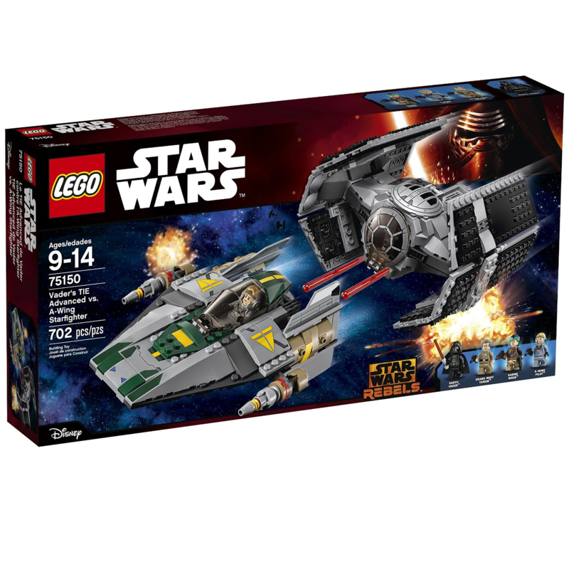 Lego 75150 Vader's TIE Advanced vs A-Wing Starfighter