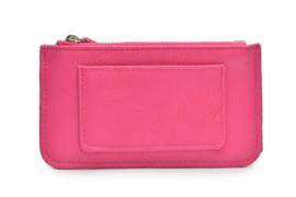 Klein portemonneetje met sleutelhanger roze