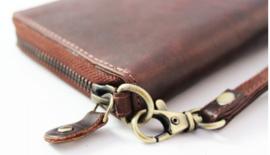 Leren portemonnee met steekvak voor mobiel
