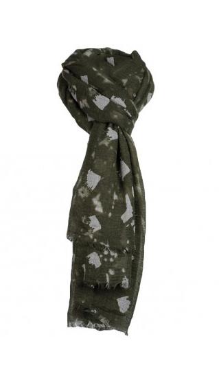 Sjaal met figuurtjes groen
