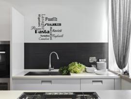 Muursticker : Italian food