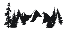 sticker mountains in the woods