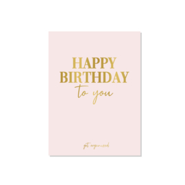 Get Organized -  Kaart - Happy Birthday To You