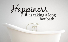Muursticker Hapiness is taking a long bath