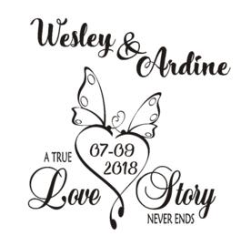 Sticker 'A true love'