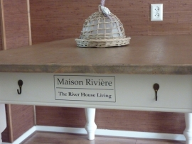 Sticker maison riviere the river house living