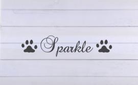 Sticker naam met kattenpootjes