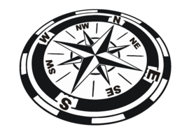 Liggend kompas groot